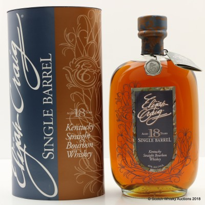 Elijah Craig 18 Year Old Single Barrel 75cl