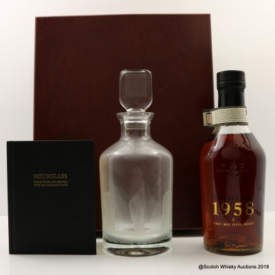 Highland Park 1958 Vintage With Decanter & Book