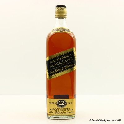 Johnnie Walker 12 Year Old Black Label 1L