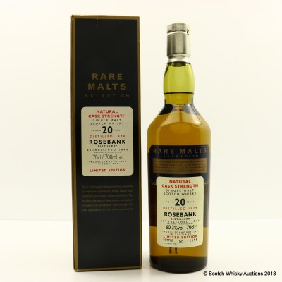 Rare Malts Rosebank 1979 20 Year Old