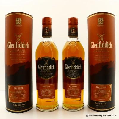Glenfiddich 14 Year Old Rich Oak 2 x 70cl