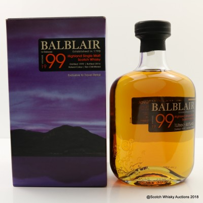 Balblair 1999 1st Release Travel Retail 1L