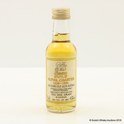 Glenrothes 16 Year Old Preston Guild Royal Charter Mini 5cl