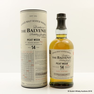 Balvenie 2002 14 Year Old Peat Week