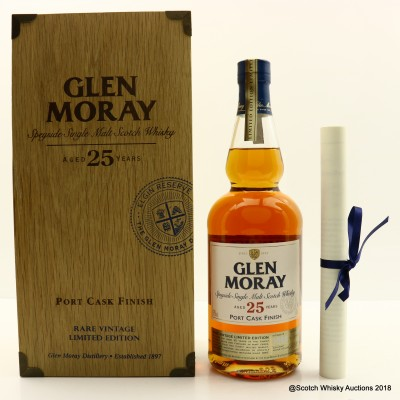 Glen Moray 1988 25 Year Old Port Cask