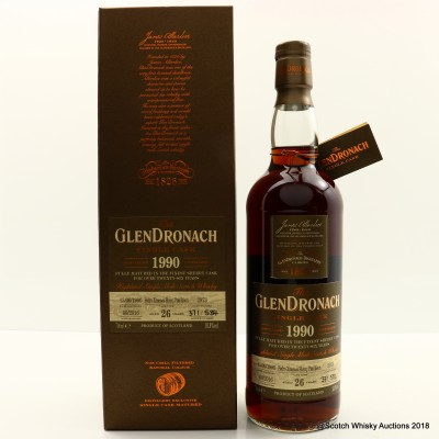 GlenDronach 1990 26 Year Old Single Cask #2973