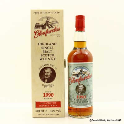 Glenfarclas 1990 Spirit Of Independence Edition #21 Thomas Carlyle