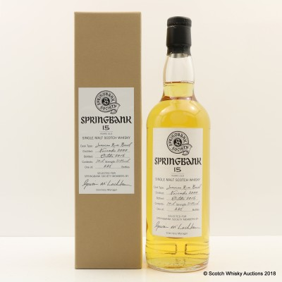 Springbank 2000 15 Year Old Society Bottling