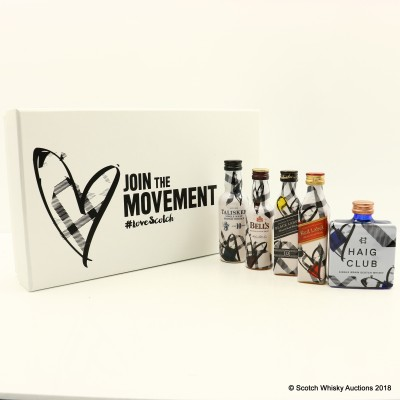 Johnnie Walker Love Scotch Box 5 x 5cl