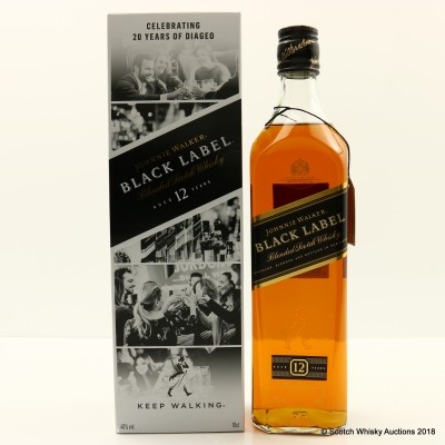 Johnnie Walker 12 Year Old Black Label Limited Edition Diageo 20th Anniversary