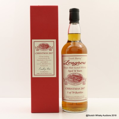 Longrow Christmas 2017 14 Year Old Fresh Sherry Wood Private Bottling For Staff