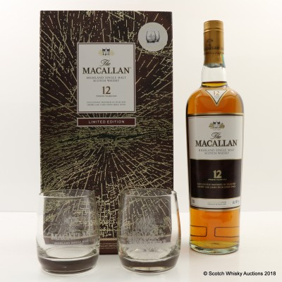 Macallan 12 Year Old & Glasses Limited Edition Gift Set