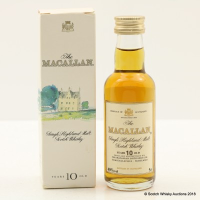 Macallan 10 Year Old Old Style Mini 5cl