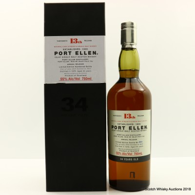 Port Ellen 13th Annual Release 1978 34 Year Old 75cl