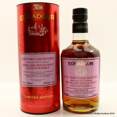 Edradour 2003 Ruby Port Cask Matured Limited Edition
