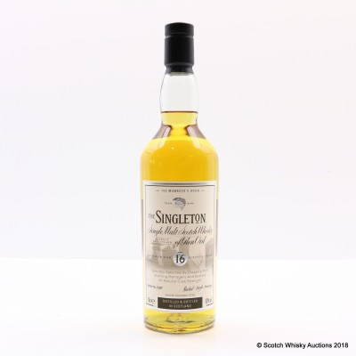 Manager's Dram Singleton 16 Year Old