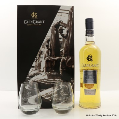 Glen Grant 18 Year Old & Glasses Gift Set