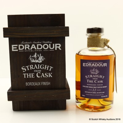 Edradour 1994 11 Year Old Straight From The Cask Bordeaux Finish 50cl