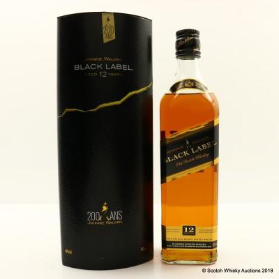 Johnnie Walker 12 Year Old Black Label 200th Anniversary