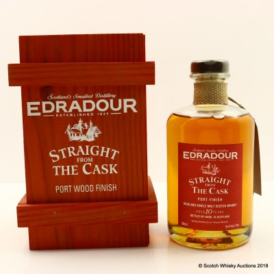 Edradour 1993 10 Year Old Straight From The Cask Port Finish 50cl