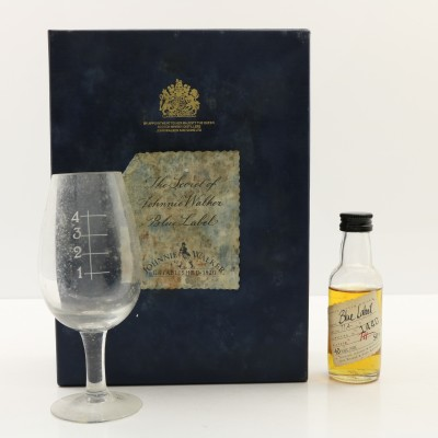 Johnnie Walker The Secret Of Blue Label Mini 5cl & Glass