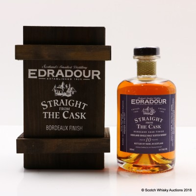 Edradour 1998 10 Year Old Bordeaux Finish Straight From The Cask 50cl