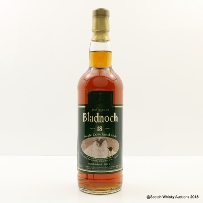 Bladnoch 18 Year Old Black Faced Sheep Label