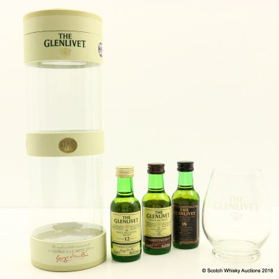 Glenlivet Minis 3 x 5cl & Glass Gift Set
