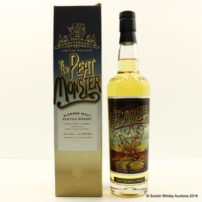 Compass Box Peat Monster 10th Anniversary Limited Release