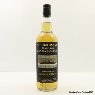 Springbank 10 Year Old Private Bottling For HMS Campbeltown