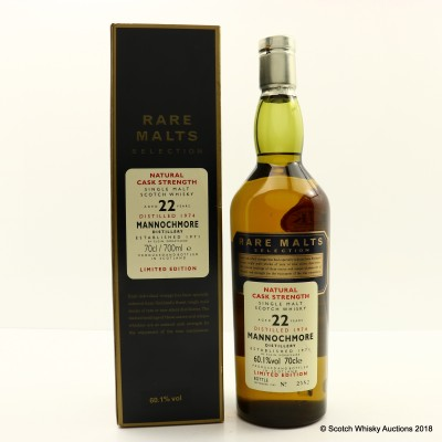 Rare Malts Mannochmore 1974 22 Year Old