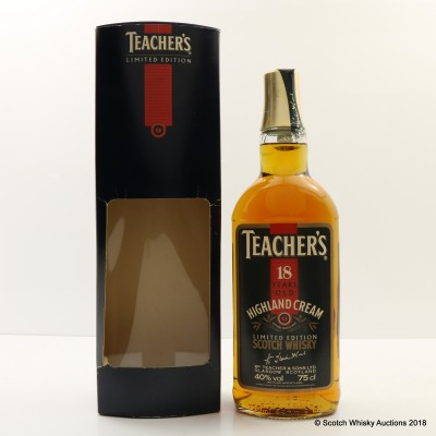 Teacher's 18 Year Old Highland Cream Limited Edition 75cl