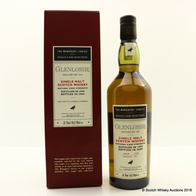 Glenlossie 1999 Managers' Choice