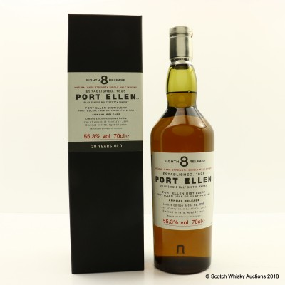 Port Ellen 8th Annual Release 1978 29 Year Old