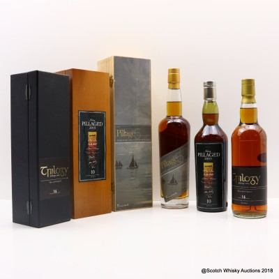 Pillage 2003 10 Year Old, 2005 12 Year Old & 2007 14 Year Old 3 x 70cl