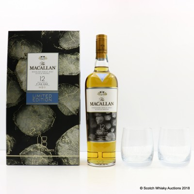 Macallan 12 Year Old Fine Oak & Glasses Limited Edition Gift Set