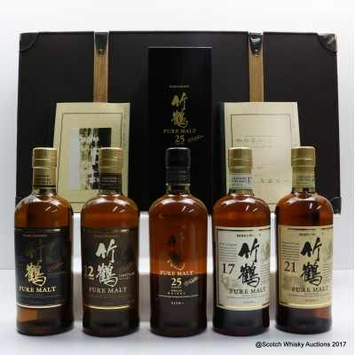 Nikka Pure Malt Collection In Leather Case