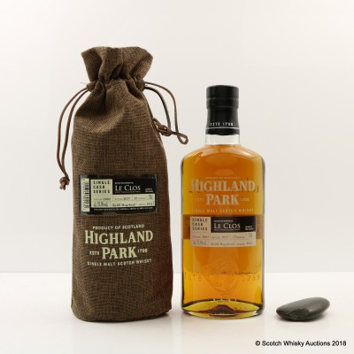Highland Park 2002 15 Year Old Single Cask #2911 Bottled Exclusively For Le Clos