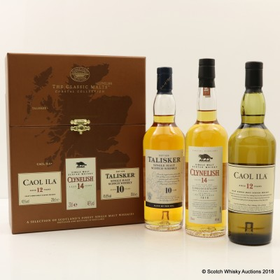 Classic Malts Coastal Collection 3 x 20cl