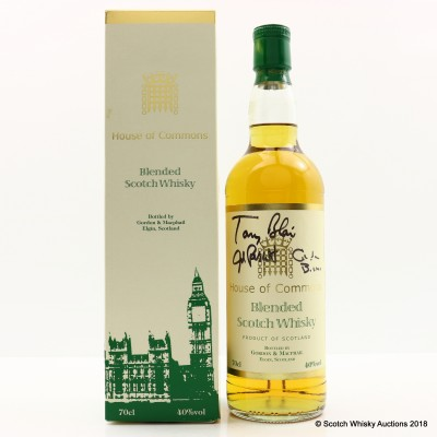 House Of Commons Blend Signed By Tony Blair, John Prescott & Gordon Brown