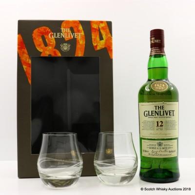 Glenlivet 12 Year Old & 2 x Glasses Limited Edition