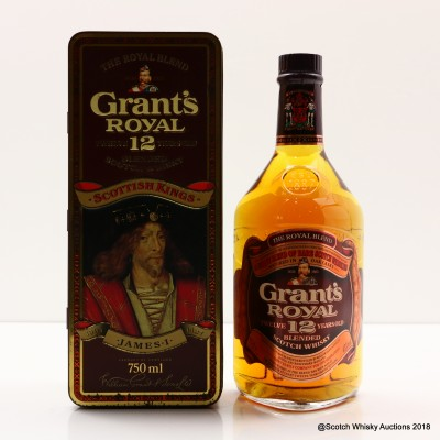 Grant's Royal 12 Year Old Scottish Kings James I 75cl
