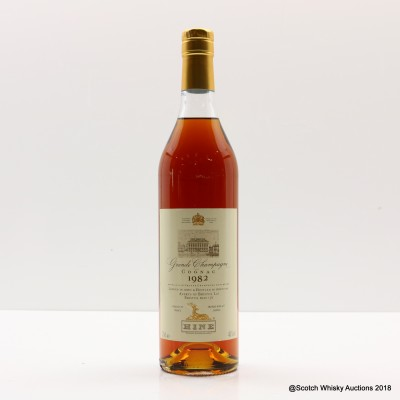 Hine 1982 Grande Champagne Cognac For Averys