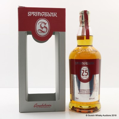 Springbank 25 Year Old 2016 Release