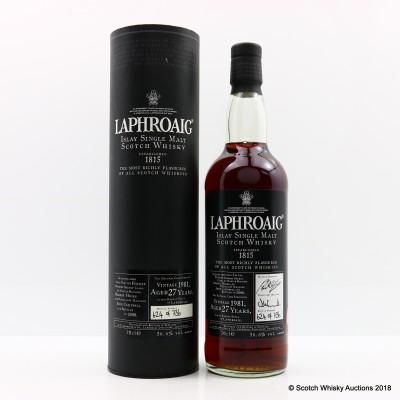 Laphroaig 1981 27 Year Old Vintage