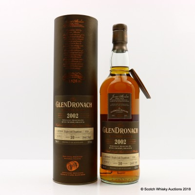 GlenDronach 2002 10 Year Old Single Cask #4528 Selected For Huis Crombe