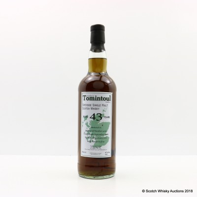 Tomintoul 1968 43 Year Old Whisky Broker