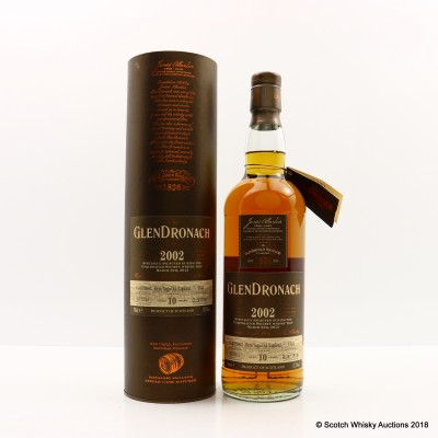 GlenDronach 2002 10 Year Old Single Cask #1743 Selected By Usquebaugh Society