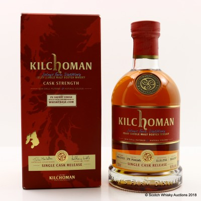Kilchoman 2011 Single Cask PX Sherry Finish For Whiskybase 10th Anniversary