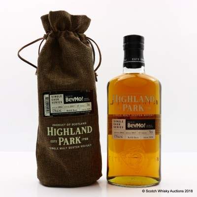 Highland Park 2002 15 Year Old Single Cask #3250 For BevMo! 75cl